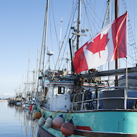 Fishing vessel with Canadian Flag